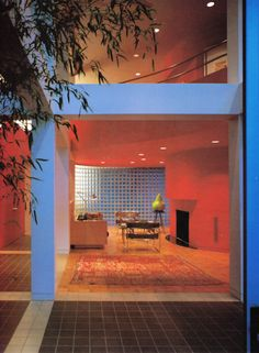 """jpegfantasy:  """" A house in Mexico designed by George Woo, architect.  Interior Design, John F. Pile, 1988.  Scanned by @jpegfantasy  """""""