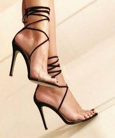 "goddesstasha: ""strappy Goddess Tasha Only High Heels "" - Absatzschuhe Stilettos, Stiletto Heels, Pumps, Sexy Legs And Heels, Black High Heels, Talons Sexy, Beautiful High Heels, Fashion Sandals, Women's Feet"