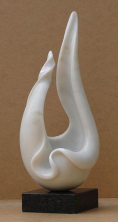 Marble Animal Form: Abstract sculpture by artist Charles Westgarth titled: 'Shell Form (Abstract marble Natural Sculpture)'