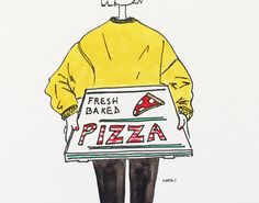 And now... pizza! By Marta Scupelli • www.stripe-me.com