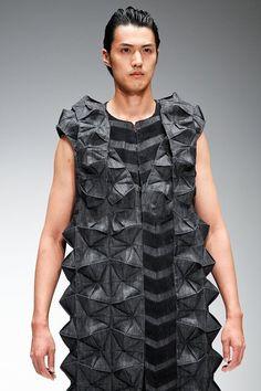 Looks like origami folds on fabric / Tokyo New Designer Fashion Grand Prix S/S 2012