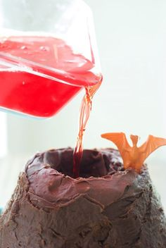 Dinosaur Cake with Exploding Volcano-14