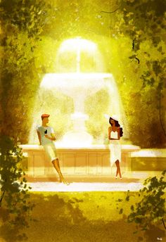 Chocolate and Vanilla meet in a park. by PascalCampion.deviantart.com on @deviantART