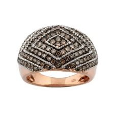 Elegant Ring With 1.02Ct Brown Diamond Rose Gold plated Ring,925 Sterling Silver #PrismJewel #Elegant #Birthday