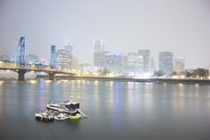 Portland Waterfront with Snow by Elizabeth Wade, Photograph | Zatista