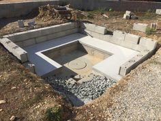 Backyard Pool Designs, Swimming Pools Backyard, Backyard Landscaping, Sunken Patio, Sunken Fire Pits, Concrete Patio, Garden Fire Pit, Fire Pit Backyard, Backyard Seating
