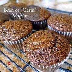 These delicious molasses-y muffins can be made with wheat bran or wheat germ