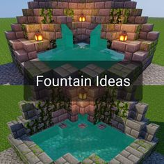 I felt like making one of those posts that has some different ideas for a certain build concept (fountains in this case). Minecraft Fountain, Minecraft Garden, Cute Minecraft Houses, Minecraft Room, Minecraft Plans, Minecraft House Designs, Amazing Minecraft, Minecraft Tutorial, Minecraft Blueprints