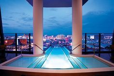 This suite at the Palms Casino, Resort in Las Vegas costs $ 40,000 a night and has a glass enclosed jacuzzi and 24-hour butler... plus more! (Courtesy of the Palms Casino Resort) #Vegas #LasVegas #travel