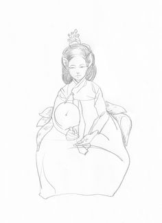 gumiho     pencil on paper  210x297 mm    피규어 드로잉 figure drawing