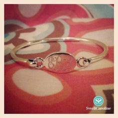The sweetest gift, commemorate a little one's arrival or special event with a Sterling Silver Monogrammed Bracelet.