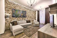 Nappali - kő és kő hatású, természetes és dekor burkolatok Couch, The Originals, Furniture, Home Decor, Youtube, Brick Interior, House Decorations, Interiors, Settee