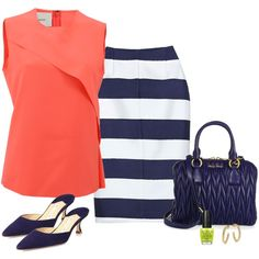 """""""Navy always rock for summer ,with pastel colors . !!!"""" by stylesbypdc on Polyvore"""