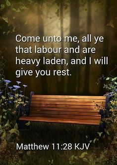 Matthew KJV - Come unto me, all ye that labour and are heavy laden, and I will give you rest. Bible Verses Kjv, King James Bible Verses, Biblical Quotes, Favorite Bible Verses, Bible Verses Quotes, Spiritual Quotes, Healing Scriptures, Healing Quotes, Spiritual Images