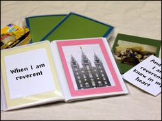 Scatter Sunshine: Activity Day  Make reverence books for kids during sacrament meeting