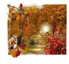 """""""AutumnWoods"""" by agolm ❤ liked on Polyvore featuring art"""