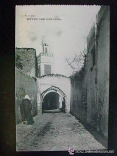 POSTAL DE TETUAN : CALLE SIDIK SAIDA . ESCRITA Y FECHADA EN 1922...