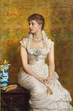 1884 Sir John Everett Millais - Portrait of Lady Campbell, née Nina Lehmann
