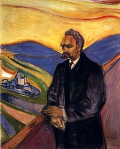 Friedrich Nietzsche Artist: Edvard Munch Completion Date: 1906 Style: Expressionism Period: Late works Genre: portrait Technique: oil Materi...
