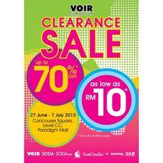 VOIR Group Clerance Sale Paradigm Mall