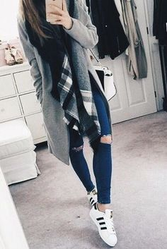Love this outfit. I like the sweater but I would prefer it to be a shorter length maybe mid thigh at the longest.
