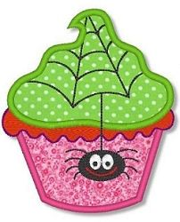 Halloween Cupcake 3 Applique - 2 Sizes! | Halloween | Machine Embroidery Designs | SWAKembroidery.com Lynnie Pinnie