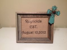 Rustic cross picture frame