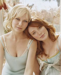 I think it's funny In Spiderman 3 they switched hair colors....kirsten was the redhead and bryce was the blonde.