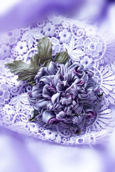 "Пион из кожи ""Аметист"" - фиолетовый,пион,пион из кожи,кожаный цветок,брошь из кожи"