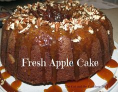 The Cat and the Cauldron: Pinterest Project #107 Fresh Apple Cake with Buttermilk Caramel Glaze.