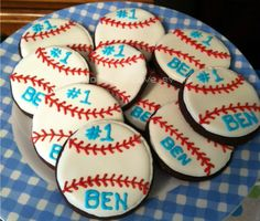 Birthday Boy Cookies - baseballs