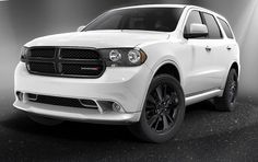 2013 Dodge Durango Blacktop® looks the business in  | Bright White, also Available in Mineral Gray, Brilliant Black, and Redline Red