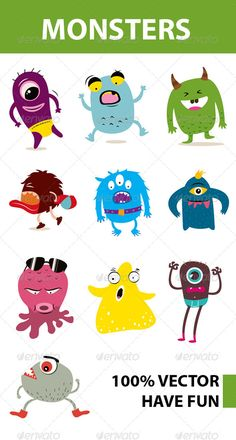 VECTOR DOWNLOAD (.ai, .psd) :: http://jquery.re/pinterest-itmid-1006125673i.html ... Funny Monster ...  cartoon, cute, funny, monster, monsters, simple, vector  ... Vectors Graphics Design Illustration Isolated Vector Templates Textures Stock Business Realistic eCommerce Wordpress Infographics Element Print Webdesign ... DOWNLOAD :: http://jquery.re/pinterest-itmid-1006125673i.html