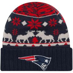 Men s New Era Navy New England Patriots Mooser Cuffed Knit Hat Men s  Football eb78c9a4f