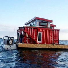 Shipping Container Home on the water.