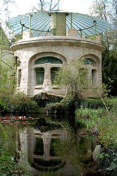 Lucien Weissenburger, attribué à (1860-1929). Pavillon aquarium. s.d. Jardin du Musée de l'École de Nancy - France