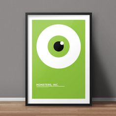 Monsters Inc Poster, Movie Poster, Minimalist Poster, Flat Poster Design, Clean Poster Design, Digital Printable Poster