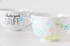 DIY craft gift ideas from kids: Sharpie mug tutorial at Handmade Charlotte