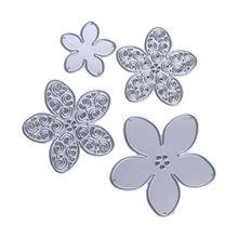 Metal 4 Size Flower Cutting Dies Stencils for DIY Scrapbooking/Photo Album /Invitations/ Cards/ Envelopes Decoration(China (Mainland))