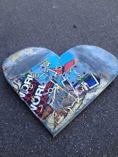 Skateboard Heart Uhr von Decorestored auf Etsy