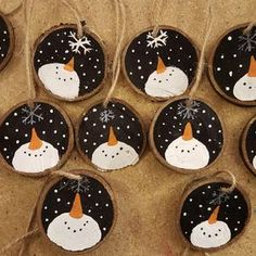 Snowman Christmas Ornaments, Christmas Crafts For Kids, Homemade Christmas, Rustic Christmas, Christmas Projects, Holiday Crafts, Christmas Diy, Christmas Decorations, Christmas Angels