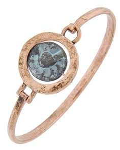 Burnished Copper Tone / Lead&nickel Compliant / Patina Metal / Hook Cuff Closure / Heart & Love / Bracelet