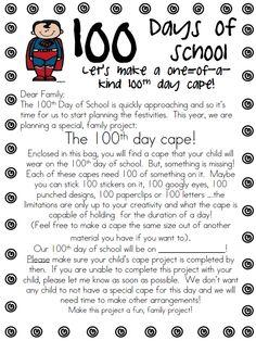 100 Day Cape (parent letter)