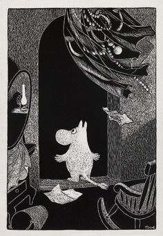 Art by Finnish author/illustrator, Tove Jansson from her series of Moomins books. Moomin Books, Tove Jansson, Children's Book Illustration, Female Art, Art Inspo, Art Reference, Book Art, Finland, Gouache