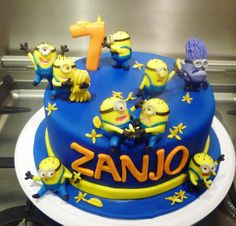"I love this fun Minion cake from Little ""Miss"" OC's Kitchen."