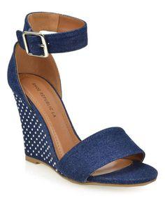 Another great find on #zulily! Dark Blue Gina Wedge Sandal #zulilyfinds