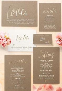 Charming Love Foil-Pressed Wedding Invitations|Minted