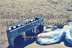 and rolling down the windows, and singing it to the car right next to you in red lights! XD