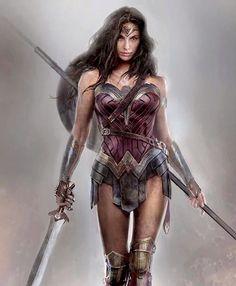 "longlivethebat-universe: "" Concept art of Wonder Woman from Batman v Superman Dawn of Justice """