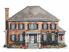 Georgian House Plan with 3380 Square Feet and 4 Bedrooms(s) from Dream Home Source | House Plan Code DHSW42580